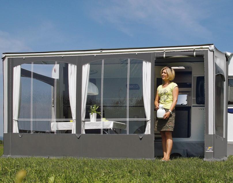 Wigo Vorderwand für Rolli Premium 25 m Grau/Silber   4041431939503