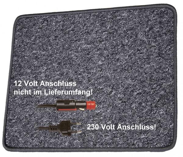 Pro Car Heizteppich 60 x 40 cm anthrazit 230 Volt / 30 Watt