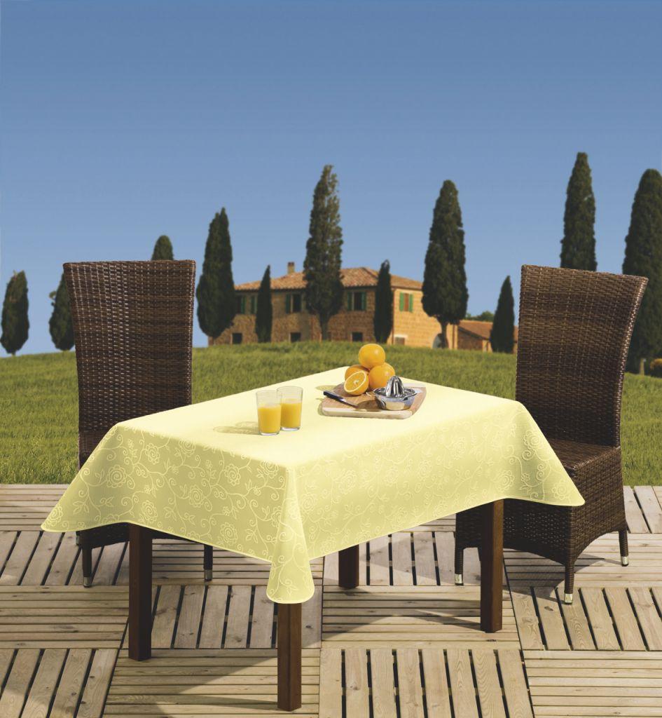 Tischdecke Capri 160 × 210 cm oval gelb   4007383258345