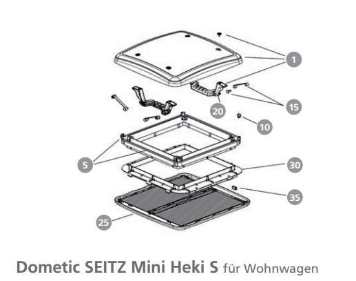 Gummipuffer BG 2333 für Dachhaube Mini Heki S für Wohnwagen   4041431095650