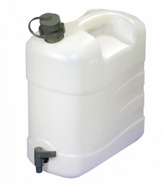 Wasserkanister 20 Liter mit Ablasshahn und Auslaufrohr