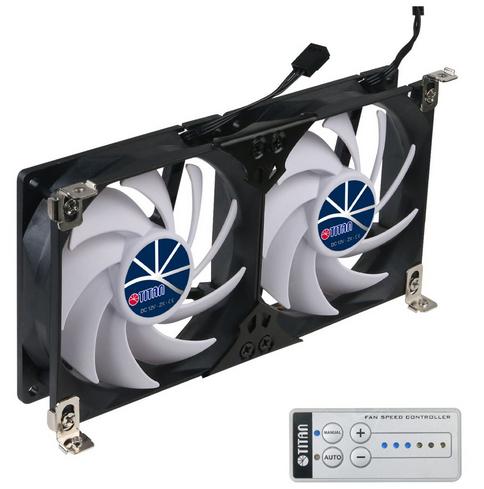 Kühlschrank-Doppellüfter Titan SC22