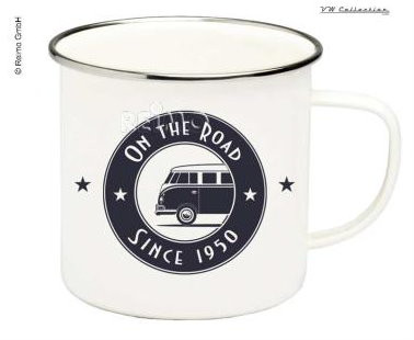 VW Collection Tasse Emaille VW Bulli On The Road Since 1950