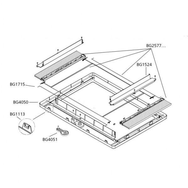 Dometic Innenrahmen komplett für Dachhaube Midi-Heki Style 700 x 500