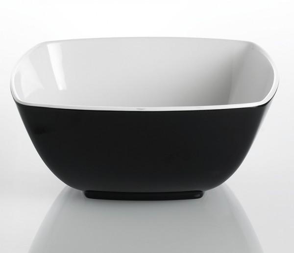 Schale Quadrato schwarz und weiß