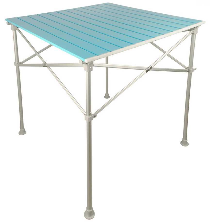 Alu Campingtisch mit AluRollplatte Alu 1 blau | 4033439155030