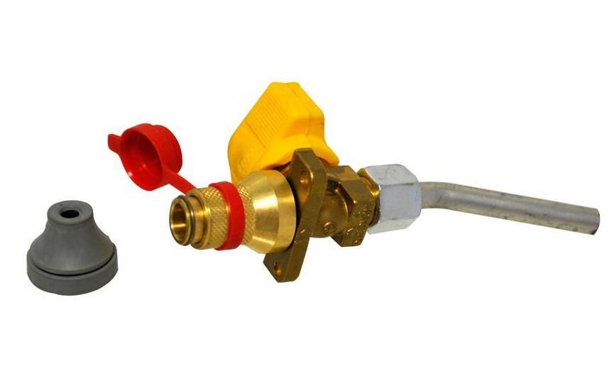 Ventil mit Flansch und Rohr für Truma Gassteckdose   4041431098026