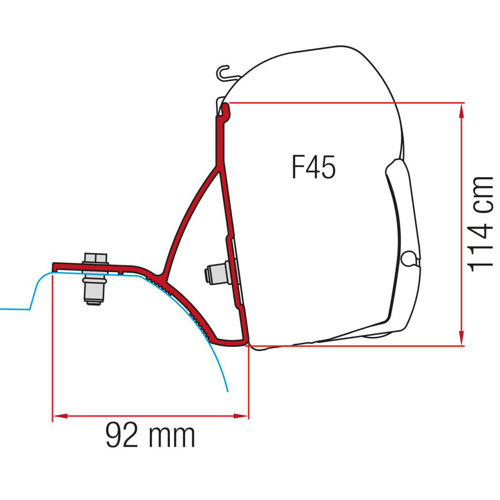 Kit Renault Trafic ab 2015 für Fiamma Markise F45   8004815348694