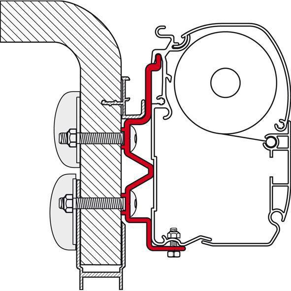 Fiamma Adapter F45 Kit Hymper Camp | 8004815092528