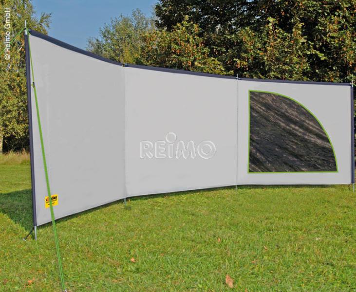 Ameland Space LuxusWindschutz in Grau/Lime 6 x 14m | 4043729140653