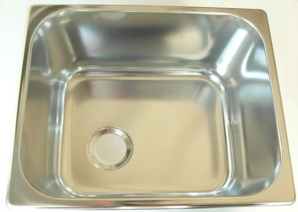 Can Spüle aus Edelstahl eckig 320x260x150 mm