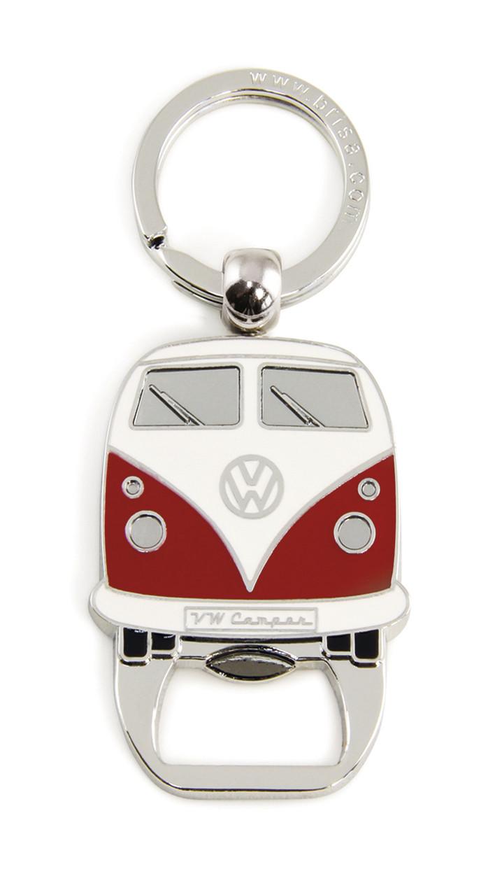VW Bulli T1 Schlüsselanhänger mit Flaschenöffner rot | 600514908924