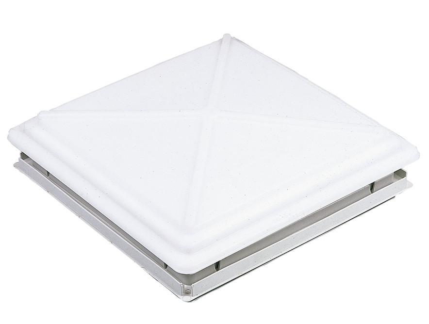 MPK Dachhaube 40 x 40 cm mit Verriegelung und Moskitonetzrahmen grau   4041431038640