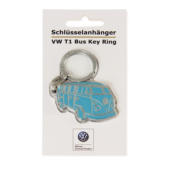 VW Collection Bulli Schlüsselanhänger Silhouette türkis