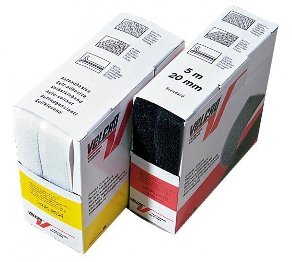 Velcro Haken und Flausch 5 m Box weiß selbstklebend