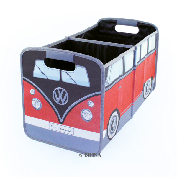 VW Bulli T1 Bus Faltbox in Rot/Schwarz