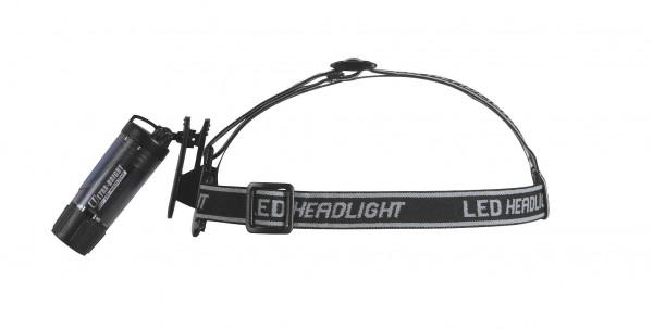 LED 'Clip' Leuchte, mit Stirnband transparent, schwarz