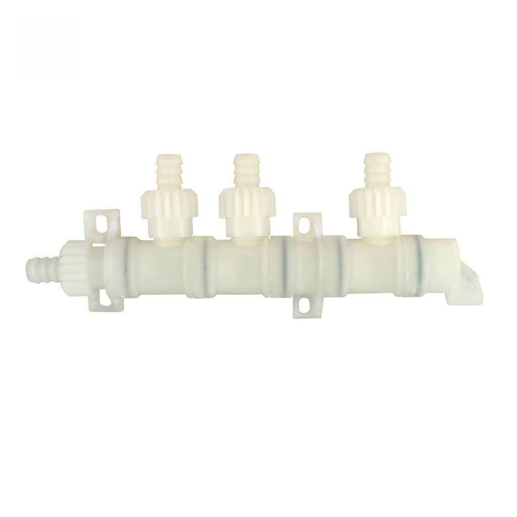 Verteilerblock 3fach mit Muttern für Comet Wasserversorgungssystem XFix | 4031656001826