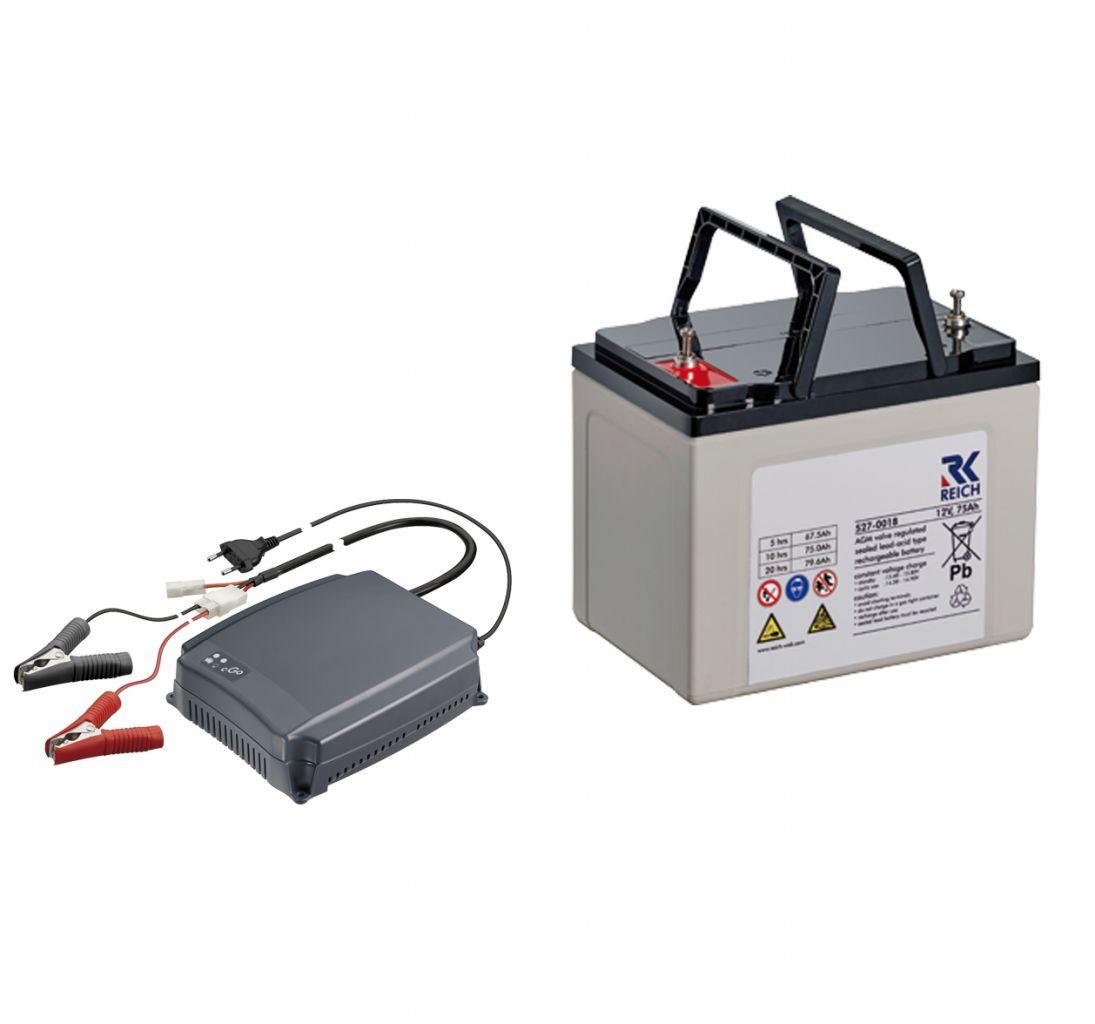 Reich Energie Paket L Batterie AGM CPC 75 Ladegerät cGo 10 A | 4037911272482
