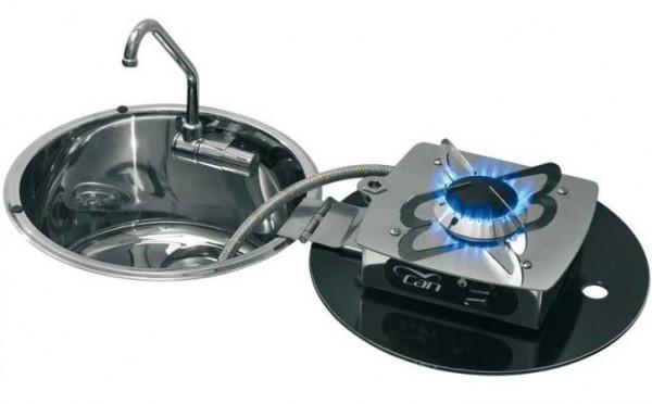 Can LC1701 Klappbare Kocher-Spülen-Kombination