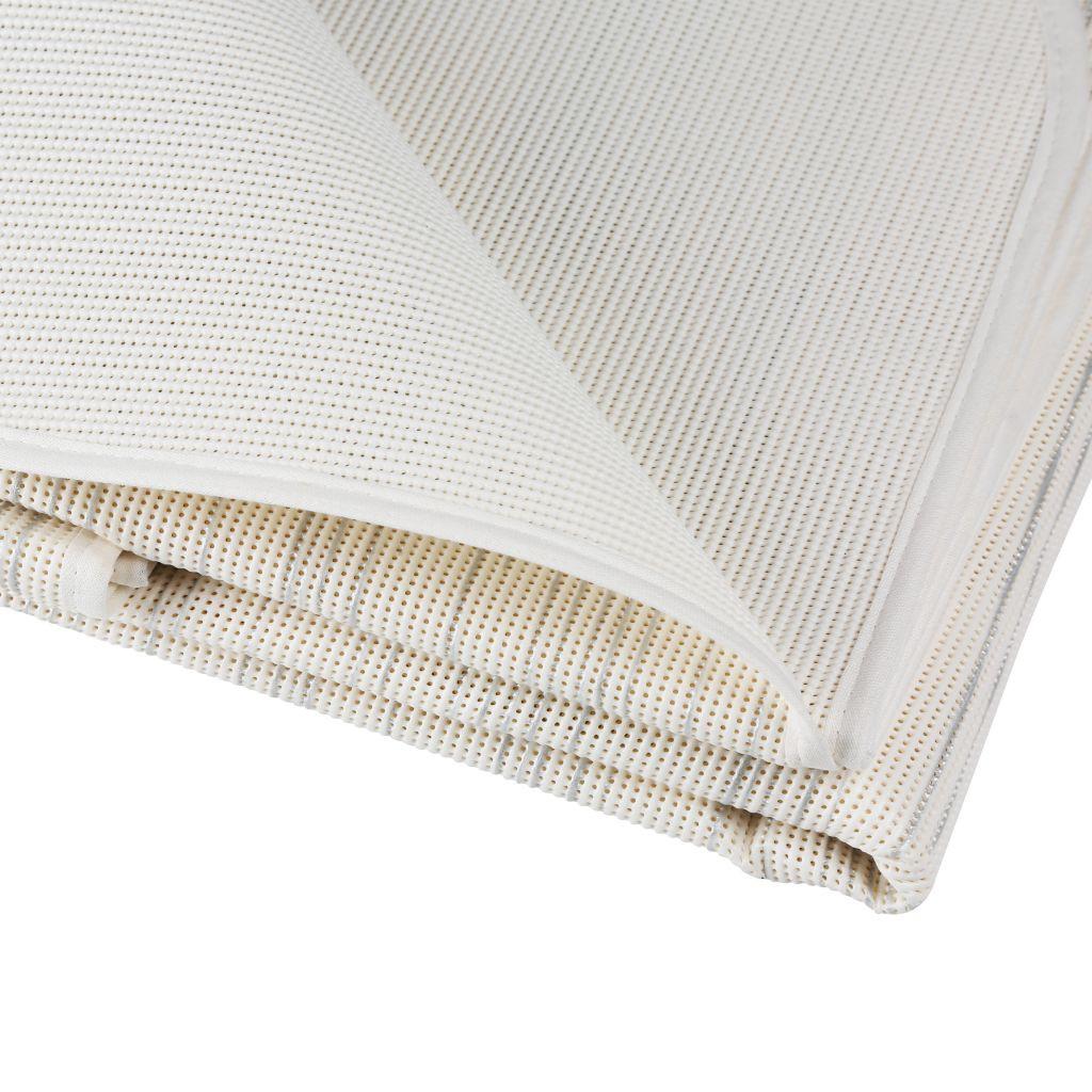 Tischdecke Milano 130 × 180 cm oval silber weiß   4007383206025