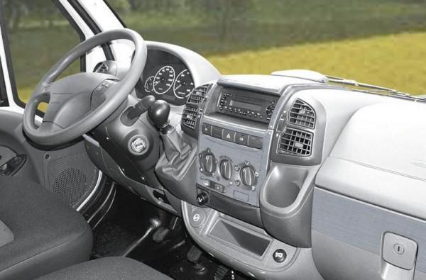 Armaturenbrett-Veredelung Aluminium für Ford Transit ohne Beifahrerairbag ab Baujahr 05/2006