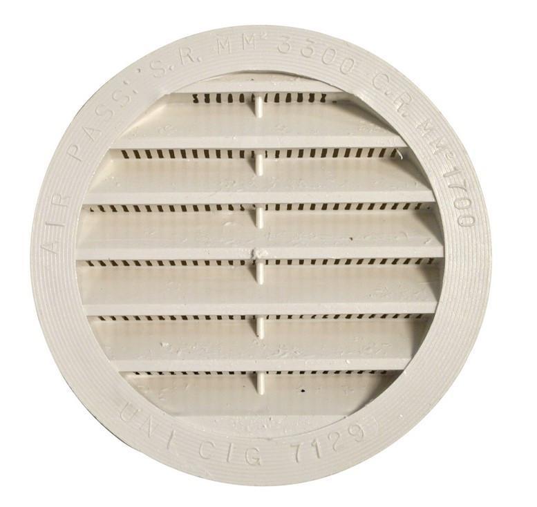 Lüftungsgitter rund 100 mm weiß | 4041431001927