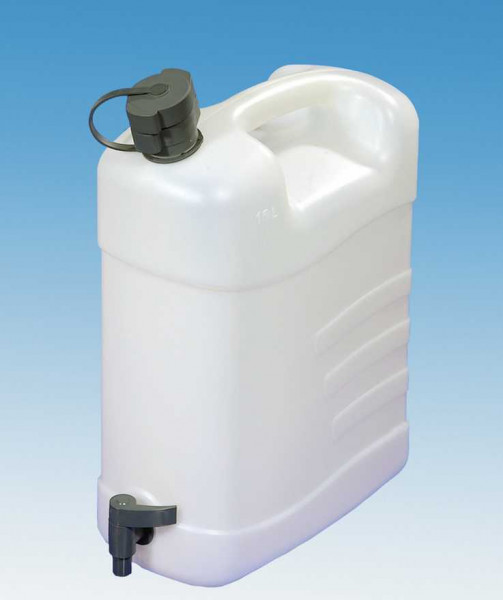 Wasserkanister 15 Liter mit Ablasshahn und Auslaufrohr