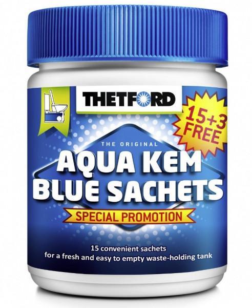 Thetford Sanitärzusatz Aqua Kem Blue Sachets 15 Beutel + 3 Beutel