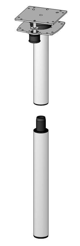 Ausdrehfuß S Höhe 701 mm für Tischplattenerweiterung   4041431113545