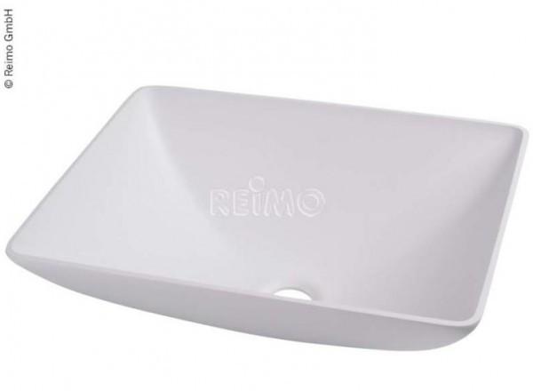 Design-Waschbecken Quadratisch weiß 400x300mm H135mm