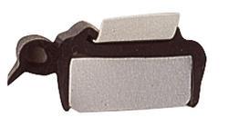 Gummiprofil für Ausstellfenster 28–32 mm schwarz   4041431107988