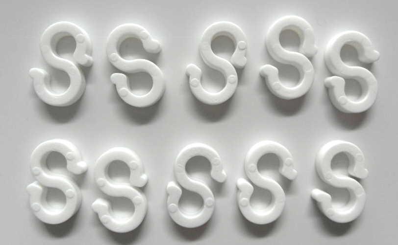 10 Stück Plastikhaken für 5mm Gummileine Gummiseil Kunststoff Plastik Haken NEU