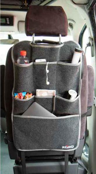 Sitz-Organizer Fahrer oder Beifahrersitz Filz anthrazit