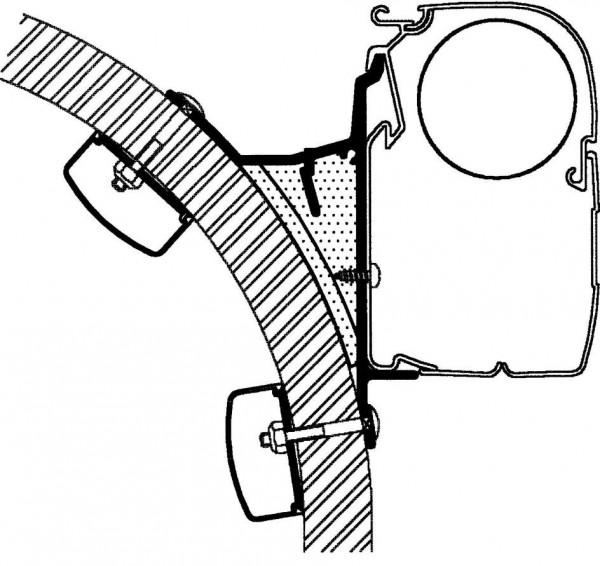 Thule Omnistor Wandadapter für Reisemobile Hymer S-Klasse Set Markise Serie 5 & 8