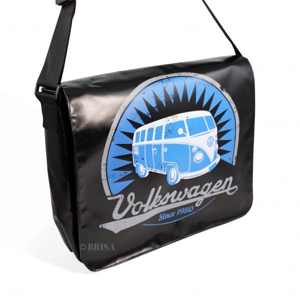 VW Bulli T1 Schultertasche groß Vintage schwarz