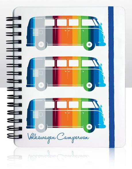 VW Bulli T1 Notizbuch Striped Camper