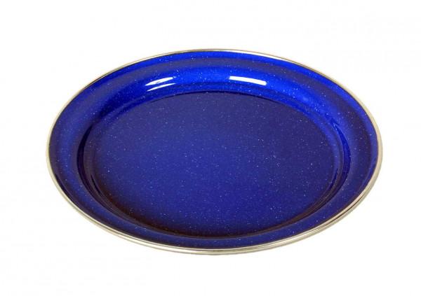 Emaille Teller flach, 26 cm, blau