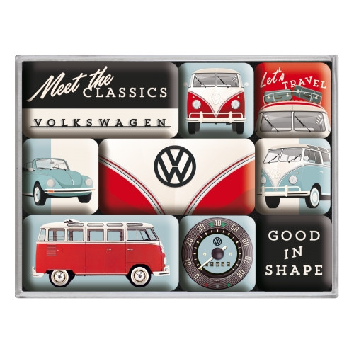 VW Bulli T1 Magnet 9er Set Meet The Classics