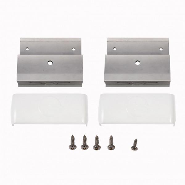 Stützen mit Abdeckkappe für Thule Roof-Rack, weiß, 2 Stück