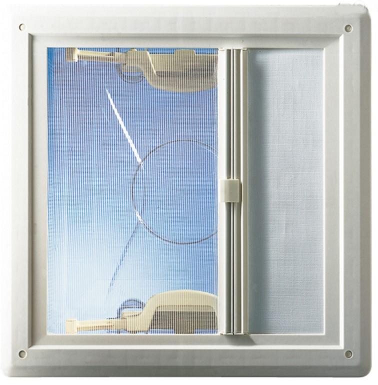 Hartal Rahmenunterteil mit Rollo weiß für Dachhaube 40×40 cm   4041431090501