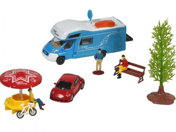 Wohnmobil Spielzeugauto mit Figuren