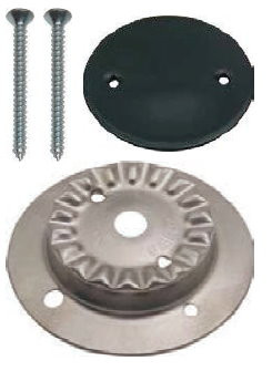 Kit Brennerkorpus groß mit 2 Löchern und Brennerdeckel emailliert für SMEV-Kocher neue Modelle