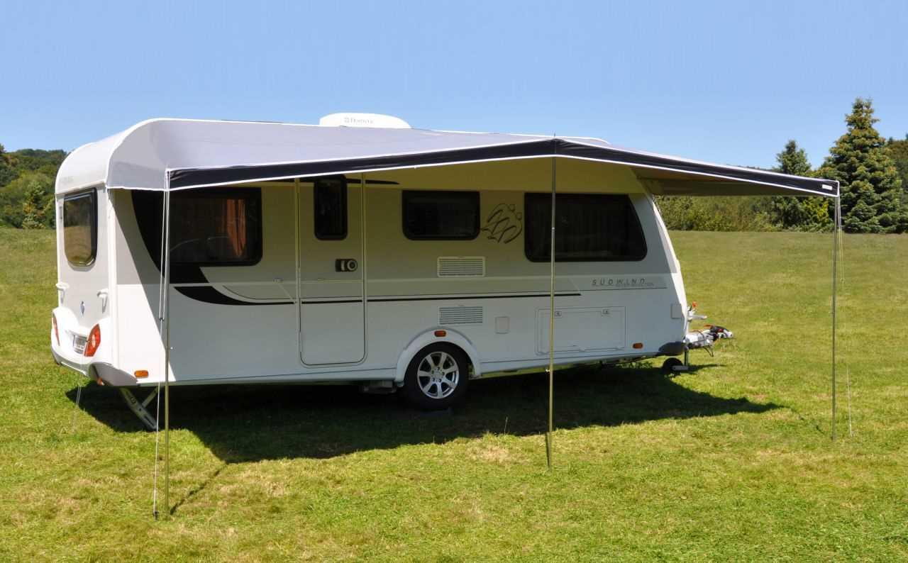 Euro Trail Sonnendach Basic 400x240cm f/ür Wohnwagen Sonnenvordach