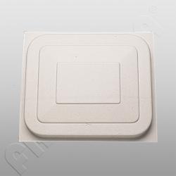 Wilk-Dachhaubendeckel 61 x 61 cm Polysterol weiß