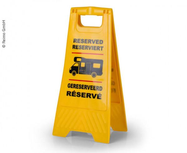 Reserviert Warnschild für Wohnmobile und Caravans