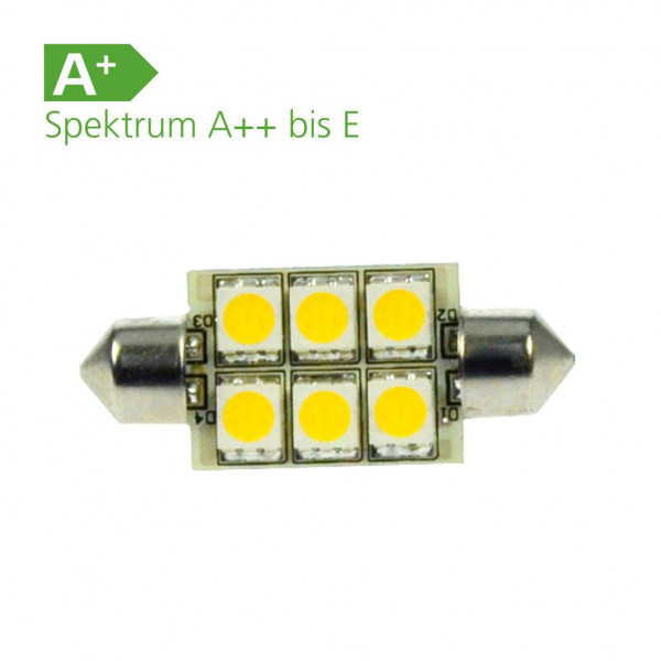 LED-Leuchtmittel 6er SMD Soffite 12 Volt