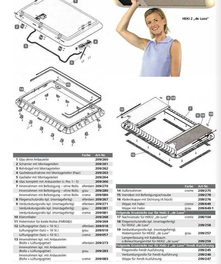 Ersatzteile für Seitz Dachhaube Heki 2 | 4041431015504