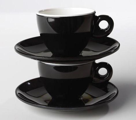Espresso-Set Quadrato schwarz und weiß