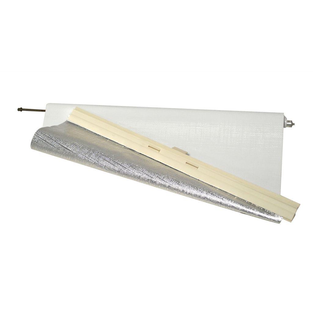 Hartal Verdunklungsrollo weiß für Dachhaube 400 × 400 mm   4041431043330